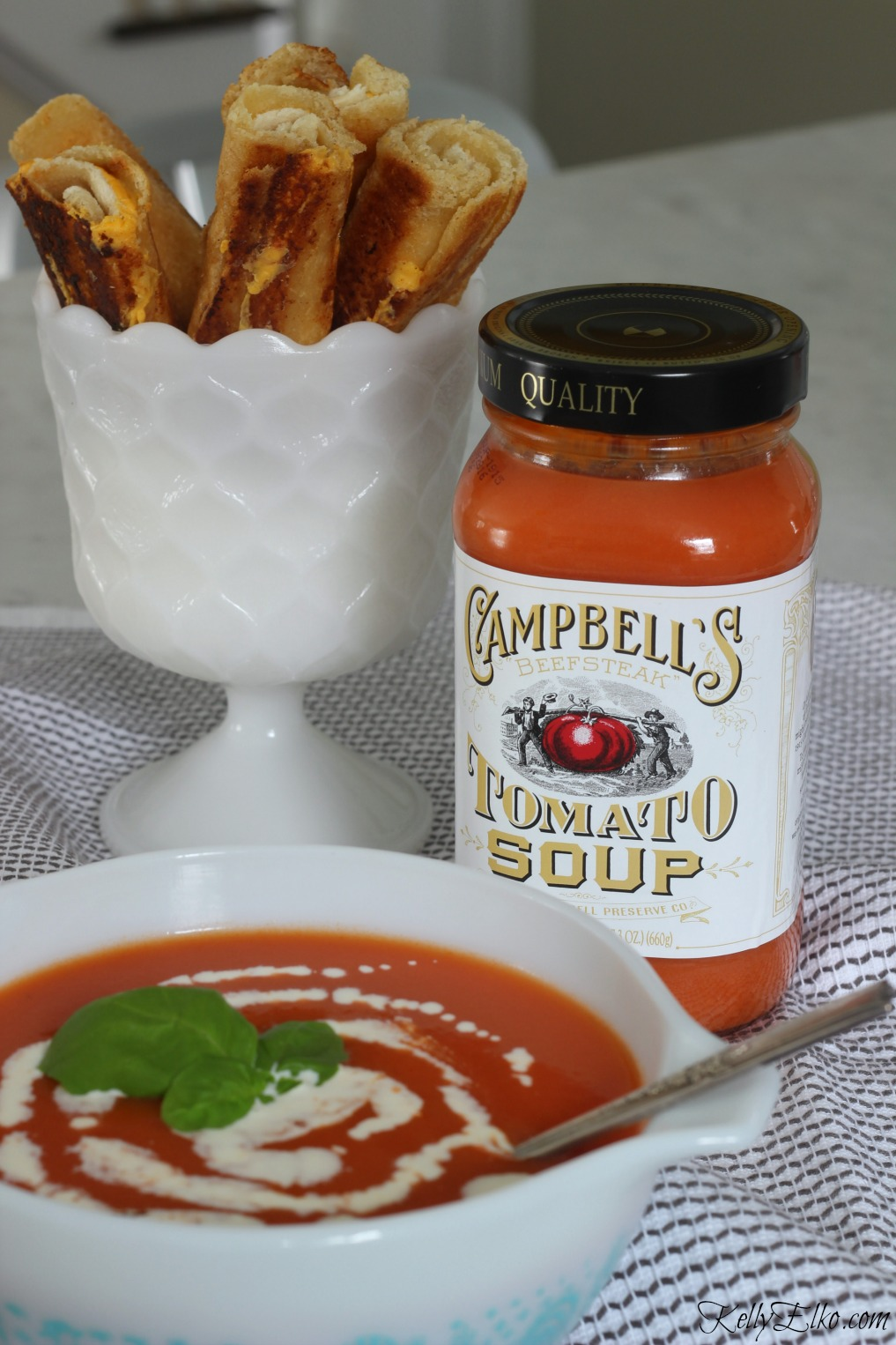 Grilled Cheese Dippers pair perfectly with tomato soup kellyelko.com