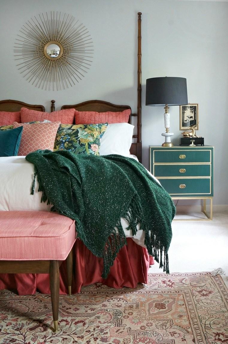 Eclectic vintage master bedroom