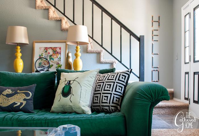 Vintage green sofa