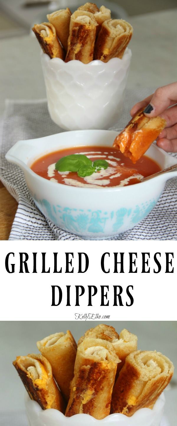 Grilled Cheese Dippers - the ultimate comfort food! kellyelko.com