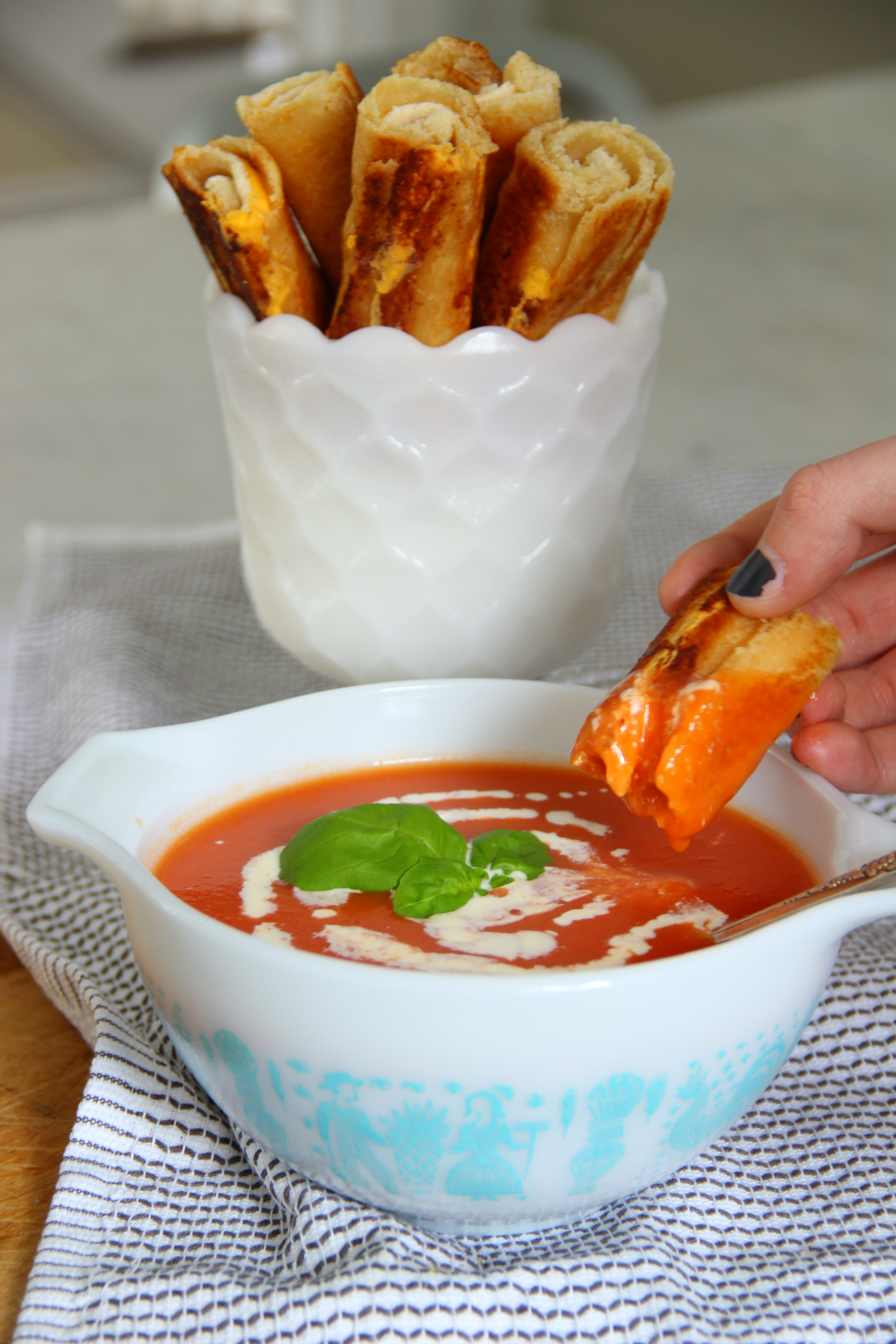 Grilled Cheese Dippers - these are so good with tomato soup kellyelko.com
