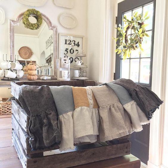 Handmade linen hand towels kellyelko.com