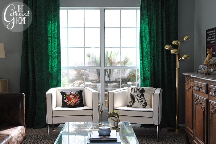 Green malachite curtains