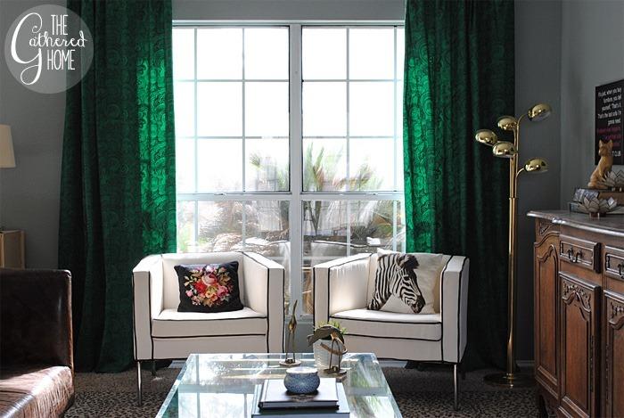 Green malachite curtains