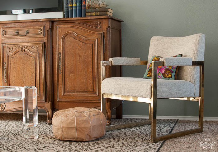 Vintage brass chair