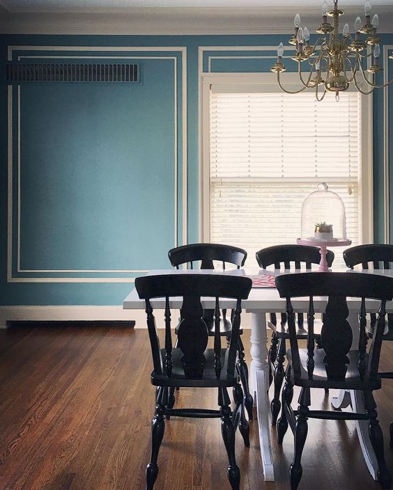 Beautiful blue dining room kellyelko.com