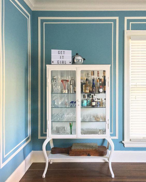 Medicine cabinet turned bar cart kellyelko.com