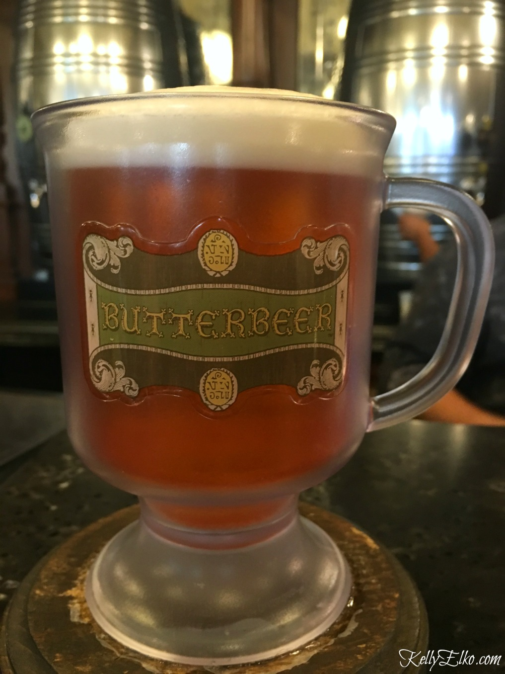 Butter Beer at Universal Studios Orlando kellyelko.com