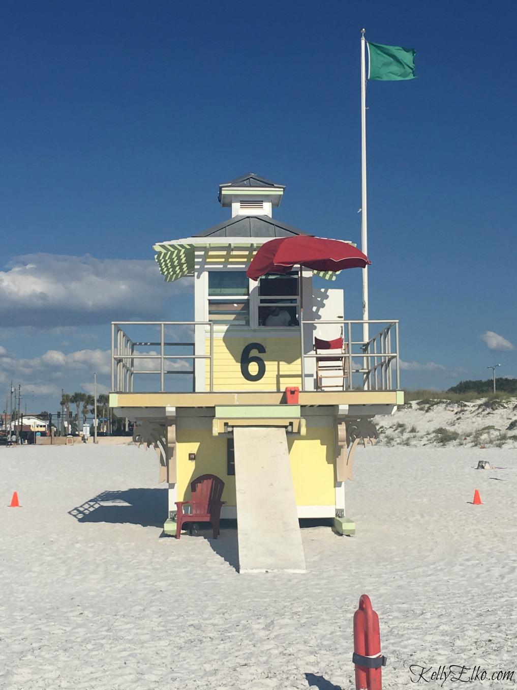 Clearwater Beach lifeguard stand kellyelko.com