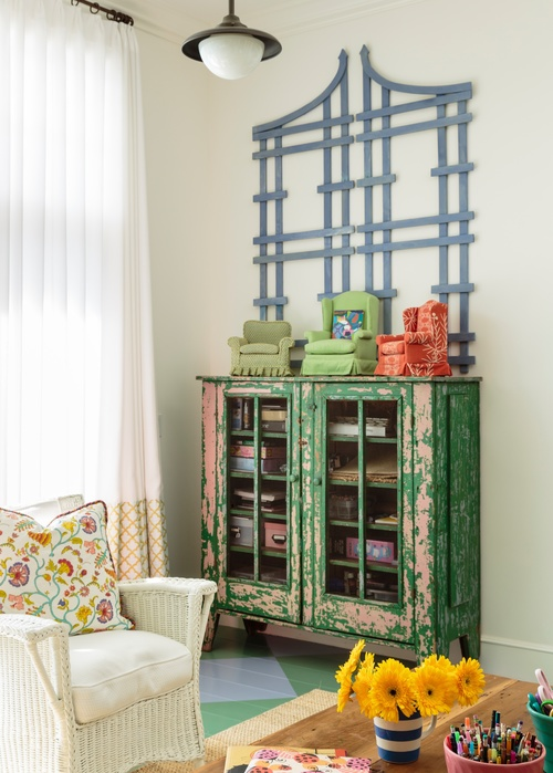 Chippy green cabinet