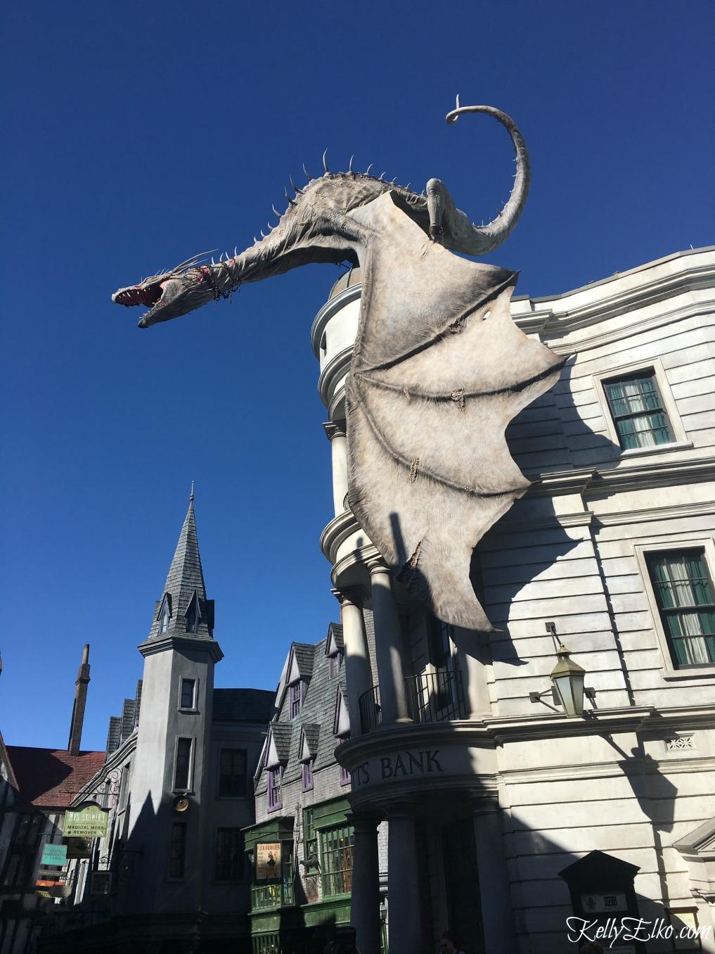 Gringotts Bank Dragon Universal Orlando kellyelko.com