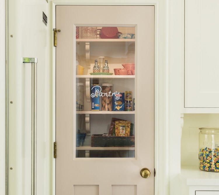 Glass pantry door