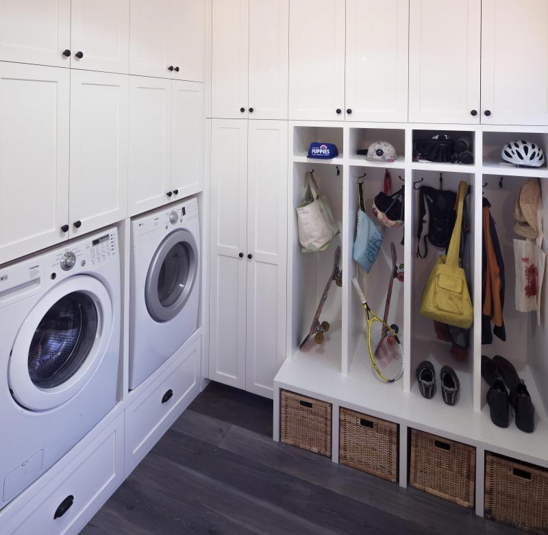 Combination laundry room/mudroom