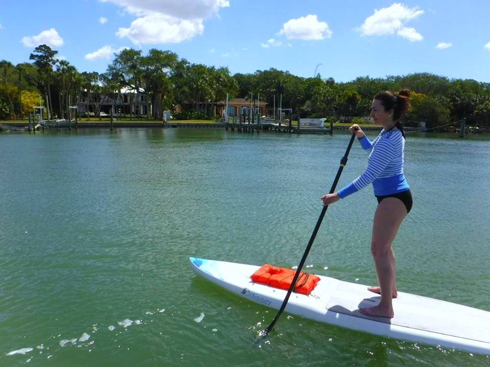 Paddle boarding in Florida kellyelko.com