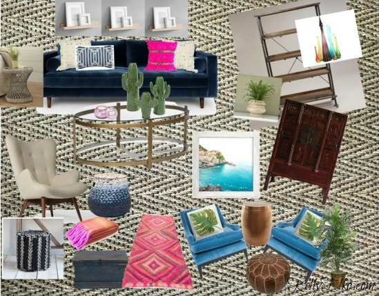 Color Lovers - she how she transformed a room with bold color and pattern kellyelko.com