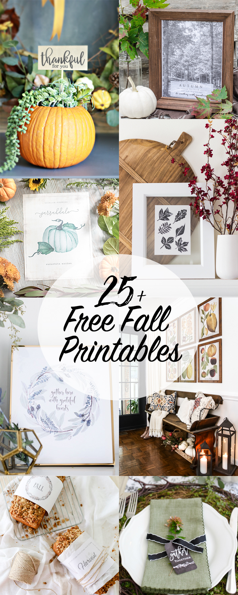 25 Free Fall Printables kellyelko.com