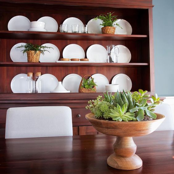 Dining room hutch with white plate display kellyelko.com