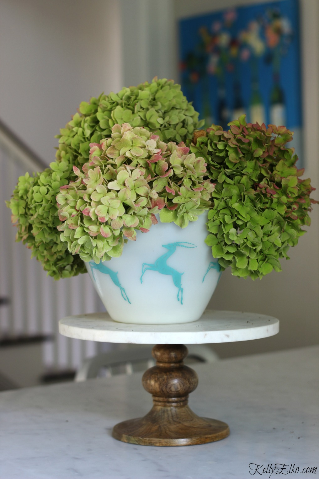 Hydrangea fall tips - when and where to cut plus an easy way to dry flowers kellyelko.com
