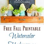 Watercolor Hydrangea Fall Printable (+ 25 Free Printables)