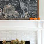 Falling for Vintage & Modern – Fall Living Room