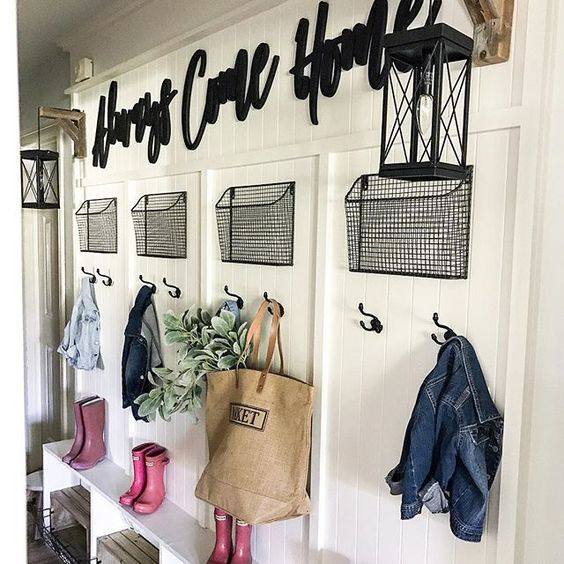 Farmhouse tour - mudroom cubbies