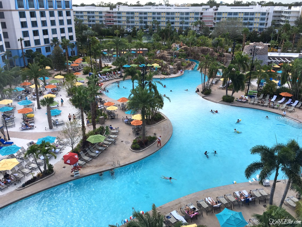 Sapphire Falls Hotel has an amazing, huge pool with water slide! kellyelko.com