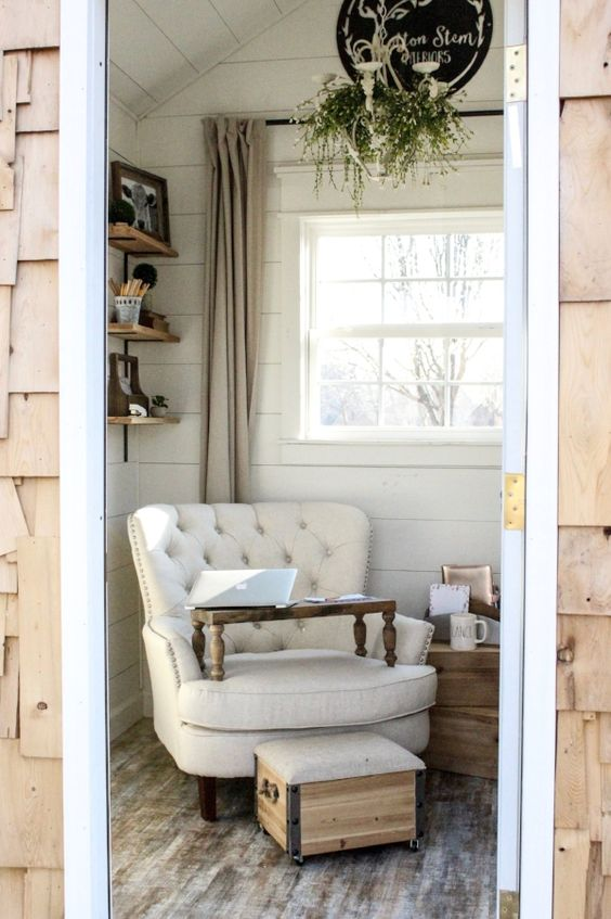 Farmhouse tour with she shed