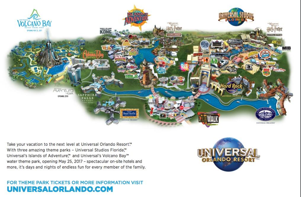 Universal Orlando Resort map kellyelko.com