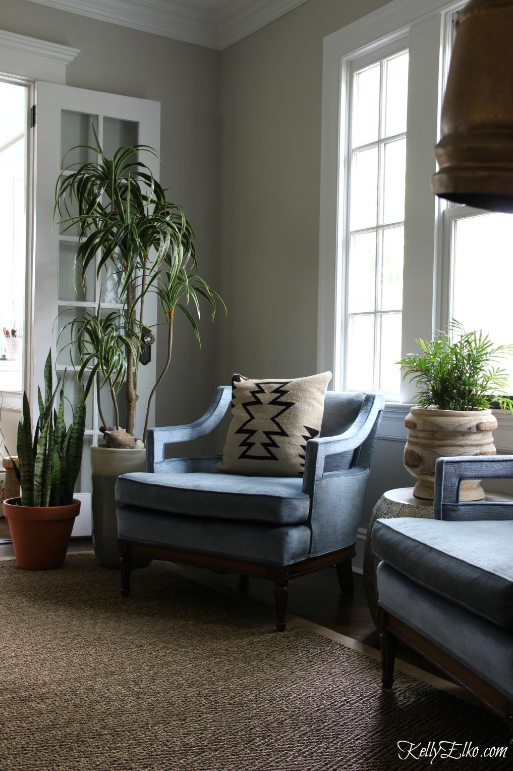 Vintage mid century modern blue club chairs kellyelko.com