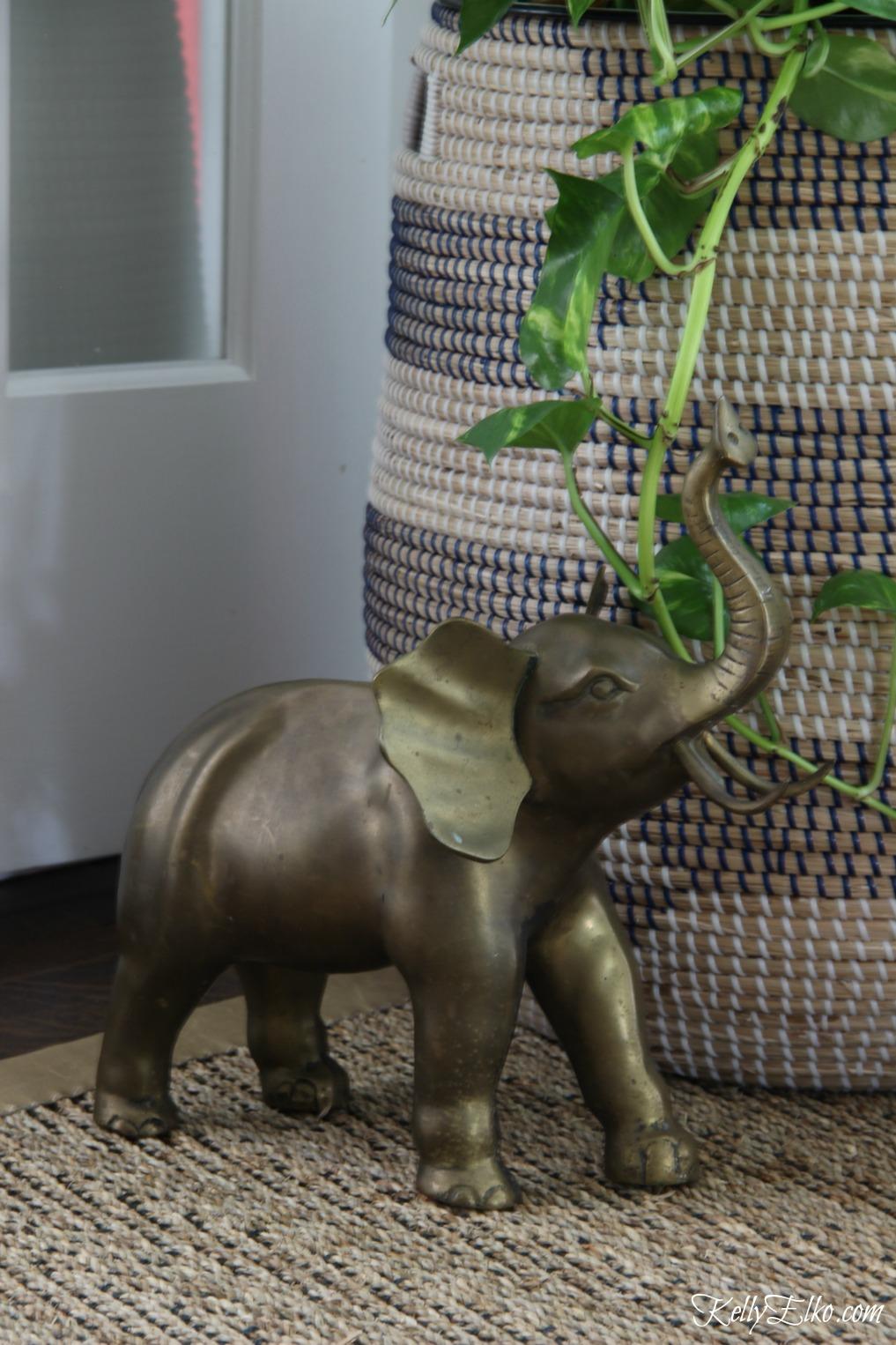 Vintage brass elephant kellyelko.com