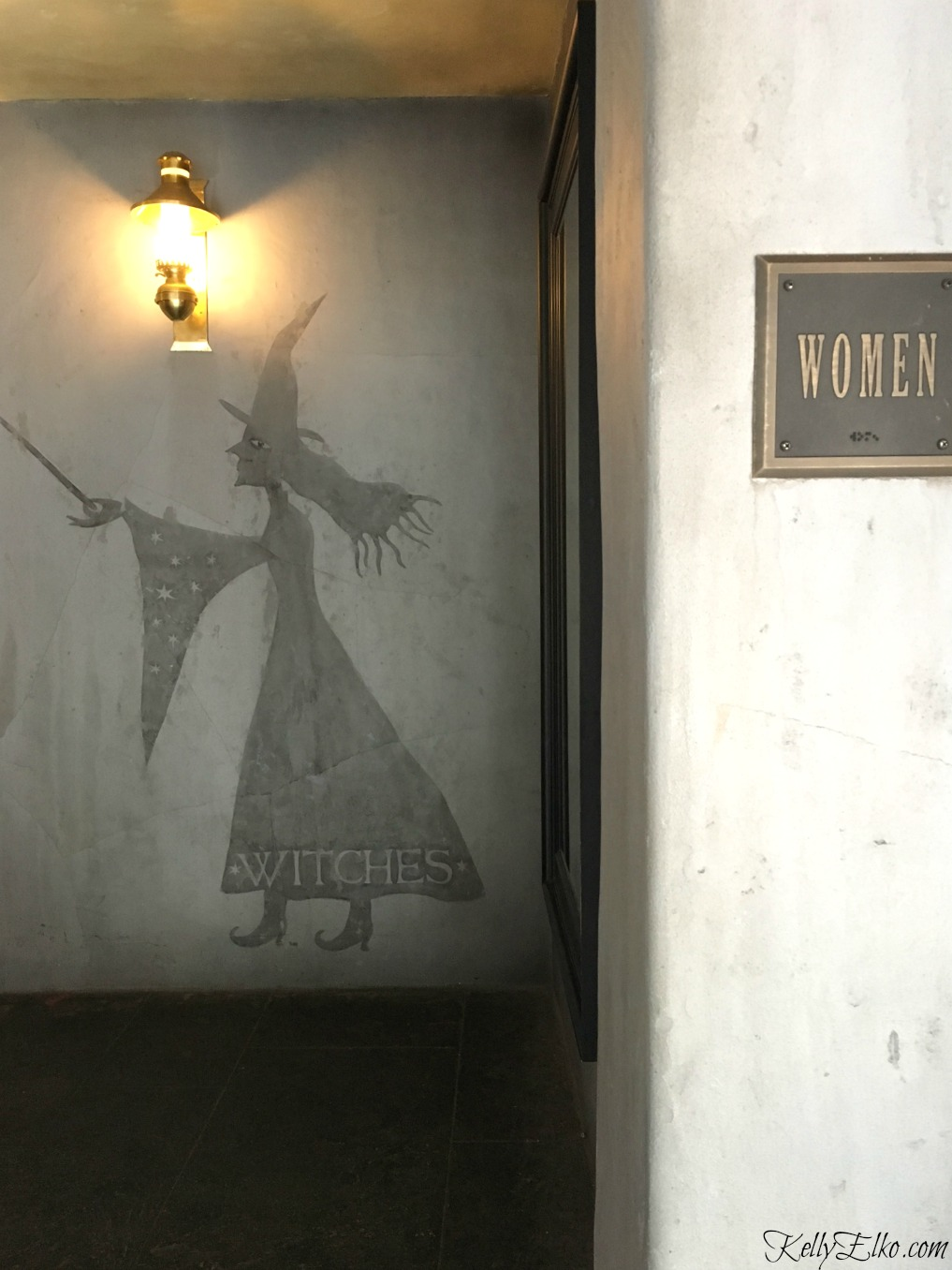 Witches ladies room at the Wizarding World of Harry Potter kellyelko.com