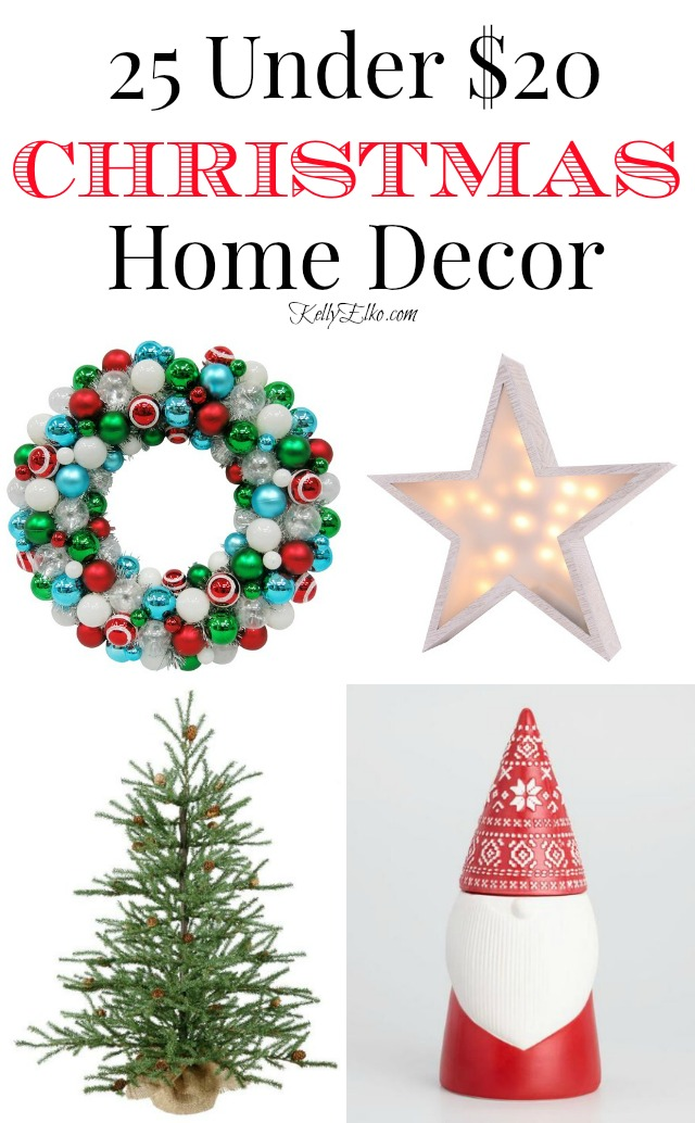 $20 Christmas Decor - so many affordable finds kellyelko.com