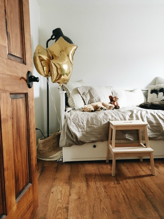 Farmhouse Tour - love this little boys bedroom