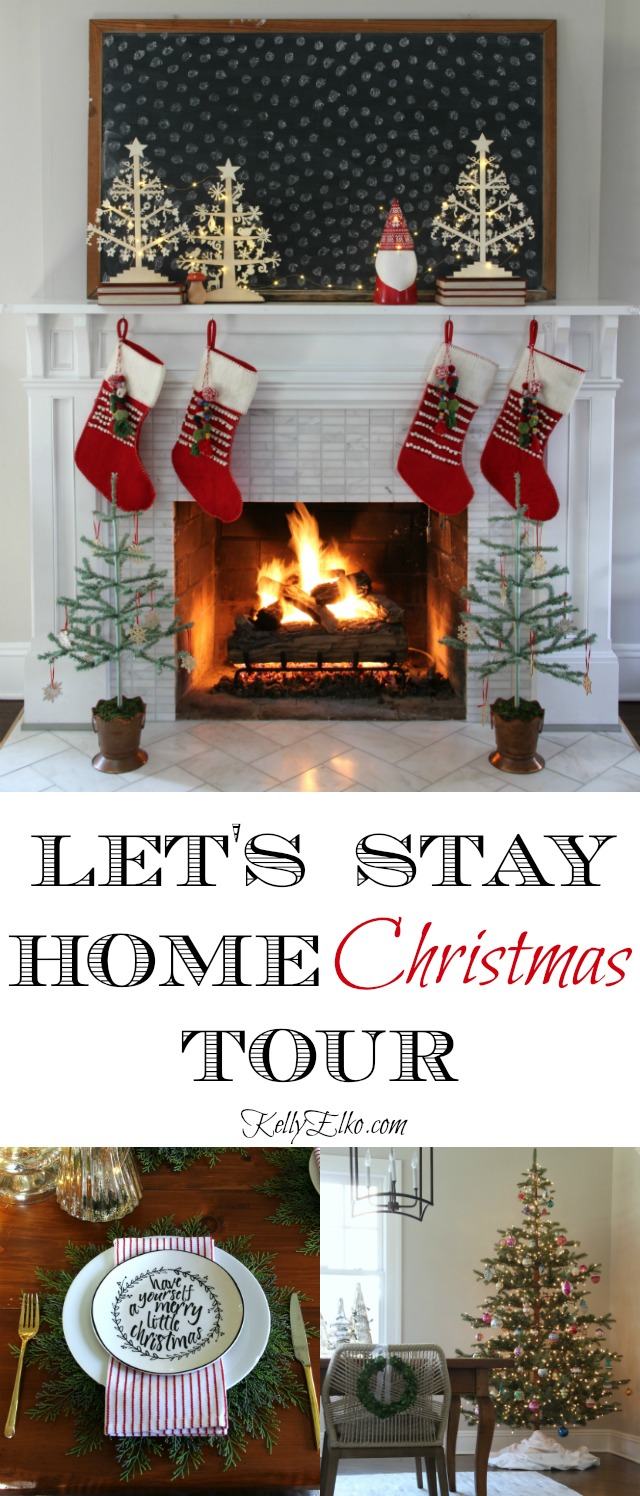 Christmas Decorating Home Tour - tons of creative decorating ideas kellyelko.com