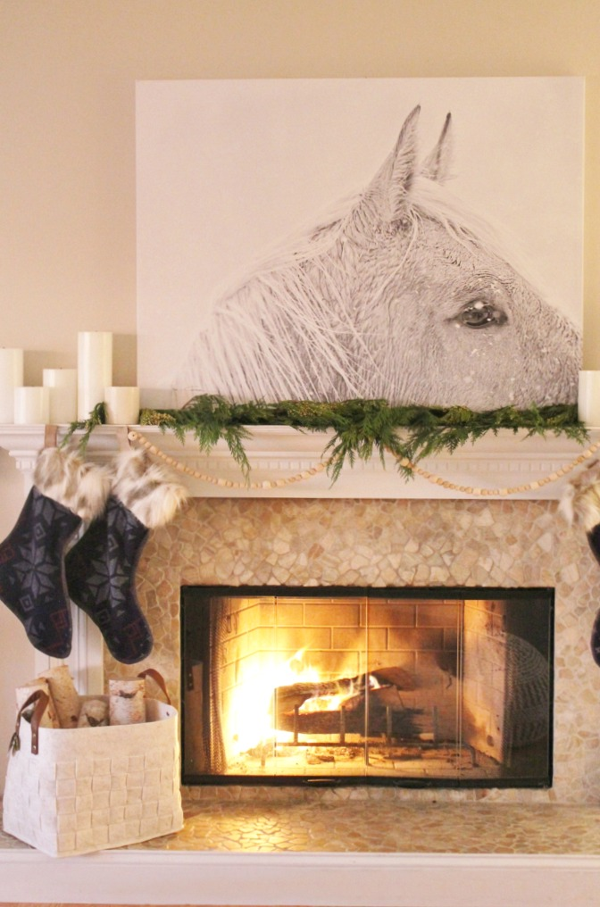 Creative Christmas Decorating Ideas - love this simple mantel