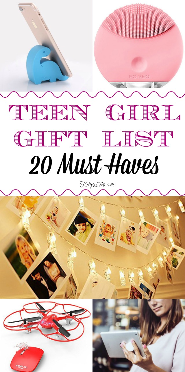 Teen Girl Gift Ideas - 20 must haves every teen wants kellyelko.com