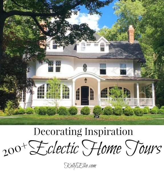 Eclectic Home Tours - tons of decorating inspiration no matter what your style kellyelko.com #homes #hometours #housetours #interiordesign #interiordecor #eclecticstyle #eclectichometour