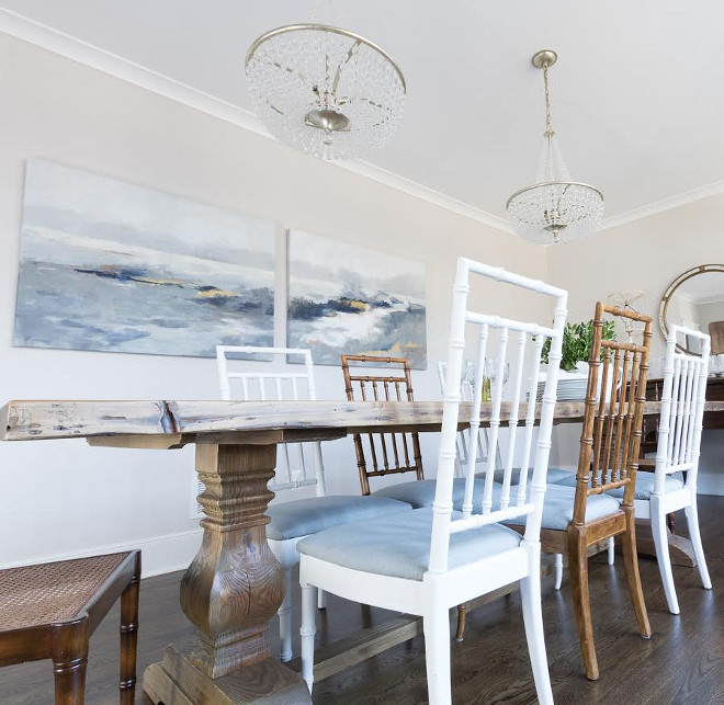 Eclectic Home Tour of Green Spruce Designs - mismatched chairs add charm to this dining room