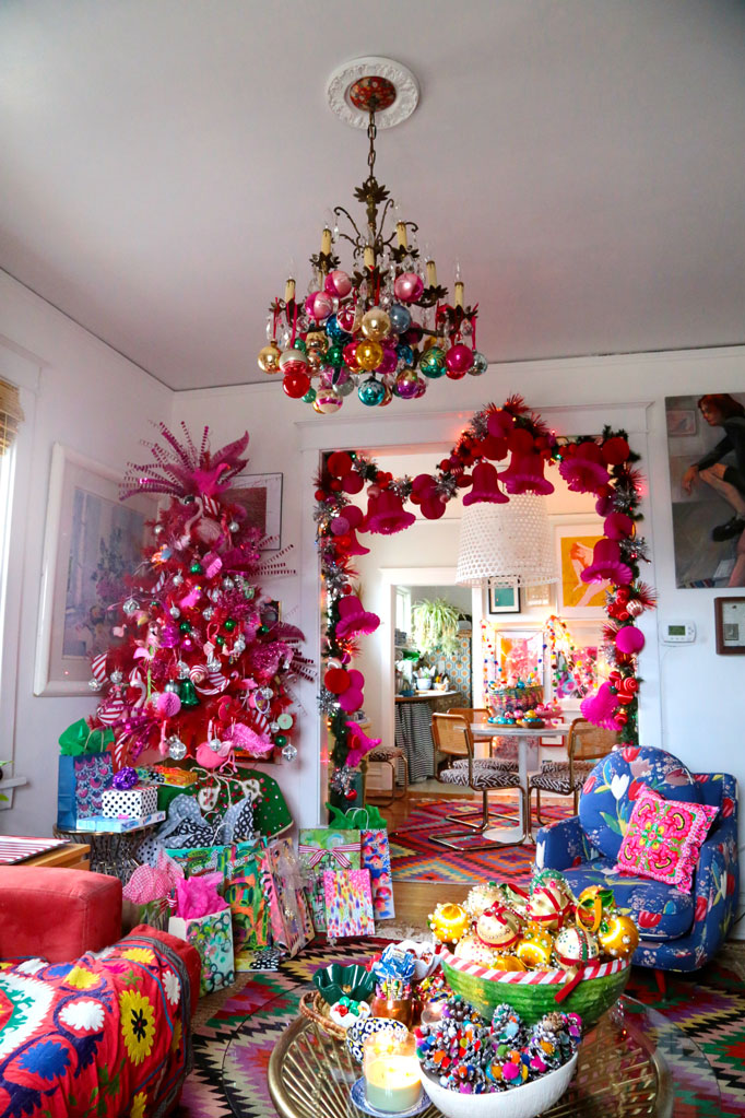 Christmas Home Tour - WOW - this home is so whimsical and colorful
