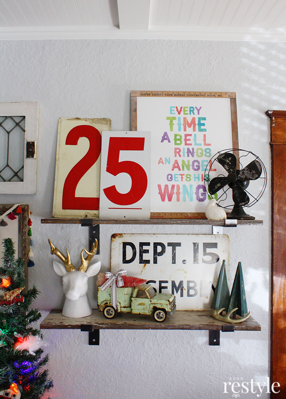 Eclectic Christmas Home Tour - love the Elf movie printable