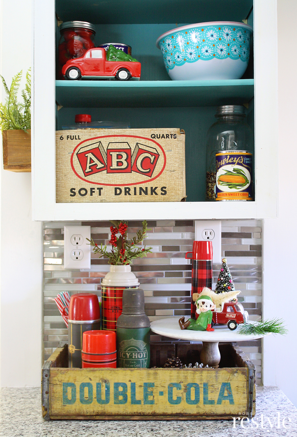 Eclectic Christmas Home Tour - love all of her vintage finds