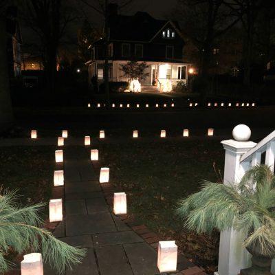 Christmas Luminaries - a town tradition kellyelko.com