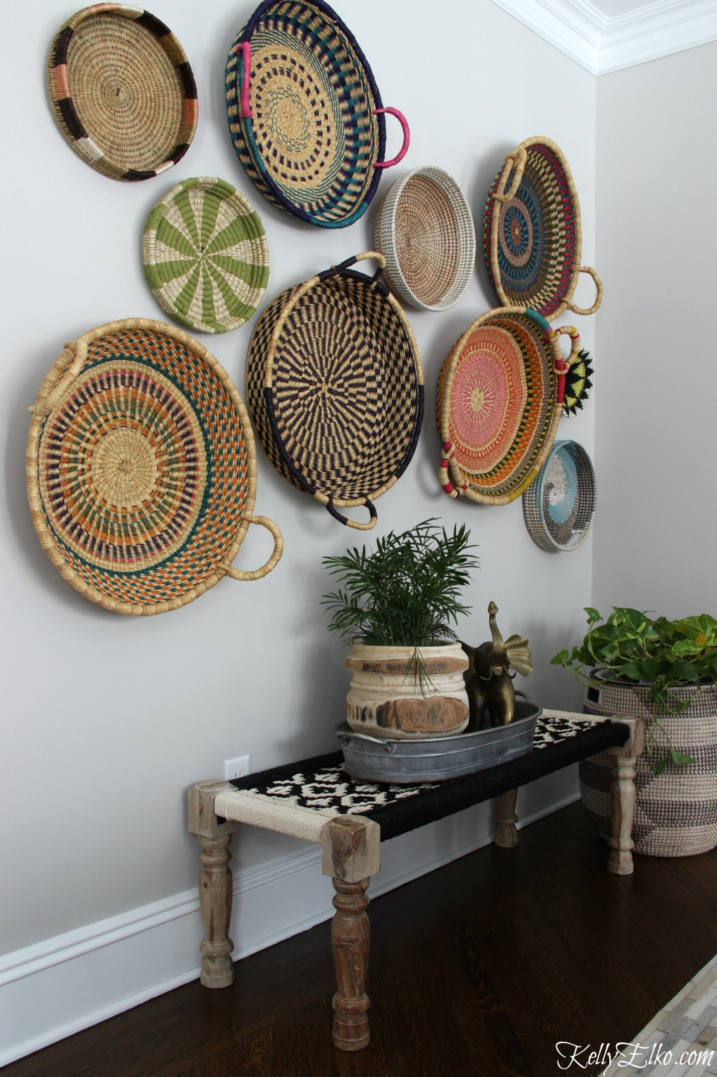 Colorful Basket Gallery Wall - Kelly Elko