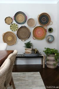 Colorful Basket Gallery Wall