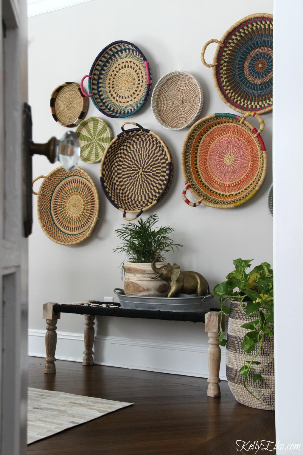 Colorful Basket Gallery Wall Kelly Elko