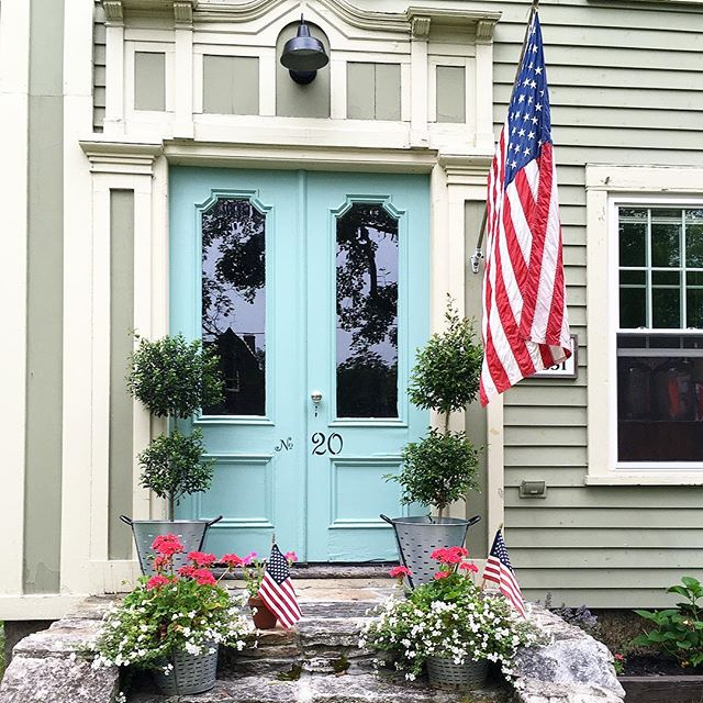 Eclectic Home Tour of Liv and Grace Restored - this 1851 historic home is huge on character starting at the front doors painted a beautiful shade of blue kellyelko.com