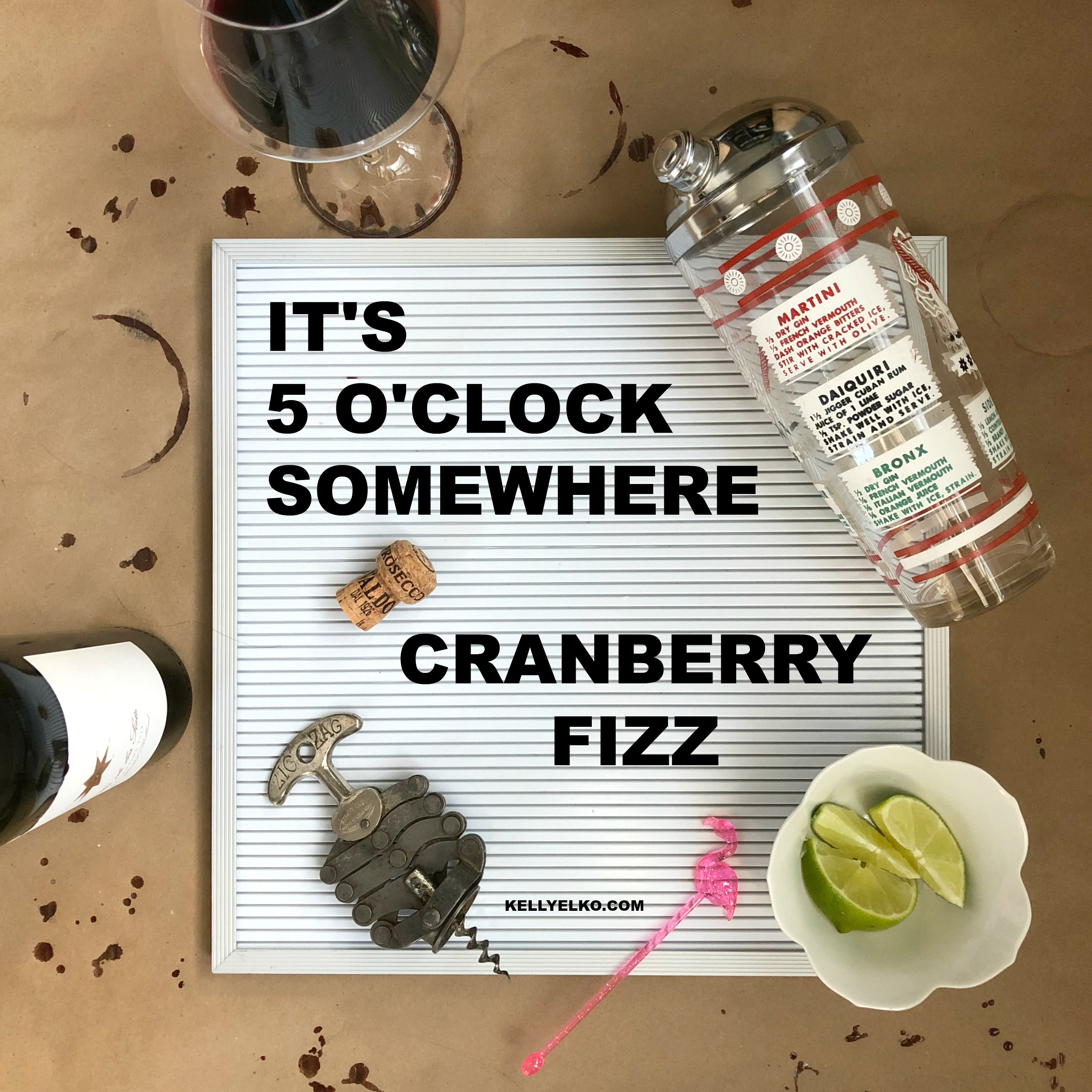 It's 5 O'Clock Somewhere - amazing cocktail recipes! kellyelko.com #cocktails #cheers #cocktailrecipes #5oclocksomewhere