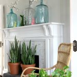 25 Spring Decorating Ideas and My Spring Mantel