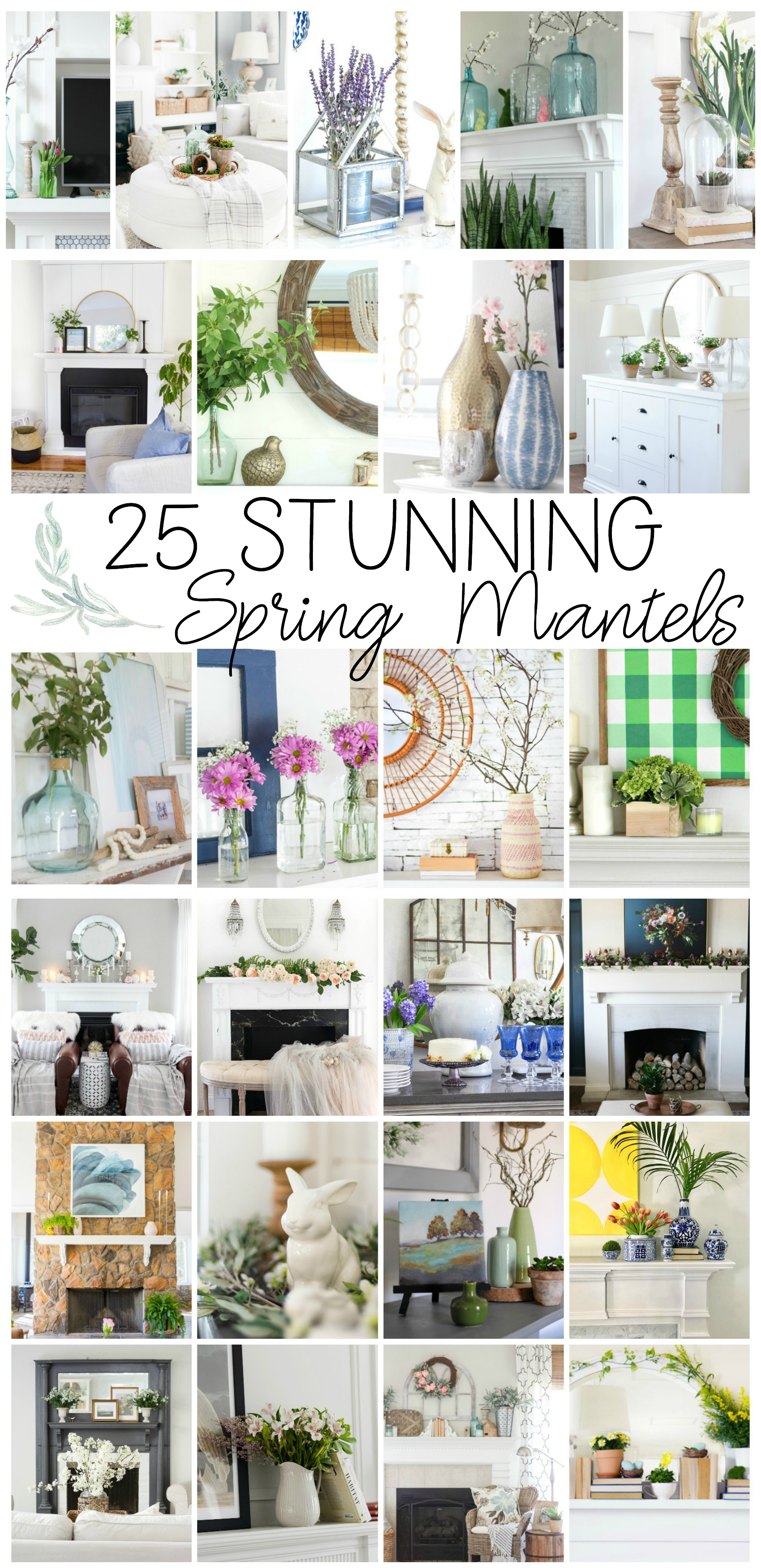 25 Spring Decorating Ideas kellyelko.com #homedecor #springdecor #spring