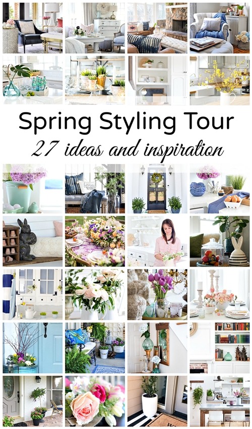 Spring Styling - see how 27 of the best home decor bloggers decorate for spring kellyelko.com